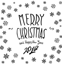 We wish you a merry christmas - calligraphy vector
