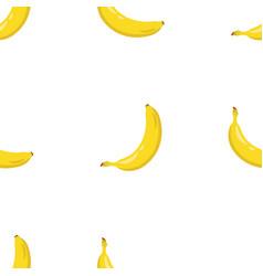 yellow banana seamless pattern sweet tropical vector image vector image