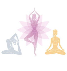 Yoga womans vector