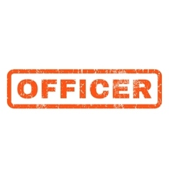Officer rubber stamp vector