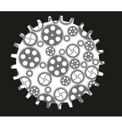 Isolated gears vector