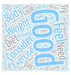 Control your weight and feel the improvement text vector