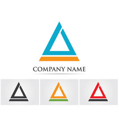 triangle logo design vector image