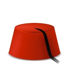 Red turkish hat vector