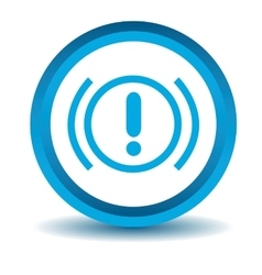 Alert sign icon blue 3d vector
