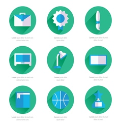 Set of flat school and education icons set 2 color vector