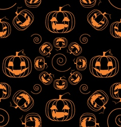 Funny bright pumpkins seamless pattern vector