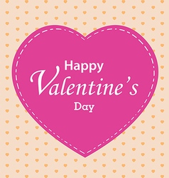 Valentines day and pink heart on colorful vector