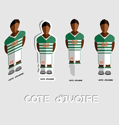 Cote divoire soccer team sportswear template vector
