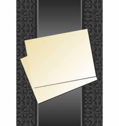paper and ribbon vector image