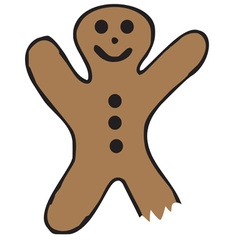 Bitten gingerbread vector