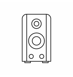 Black sound speaker icon outline style vector