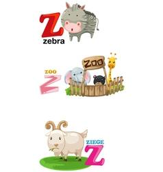alphabet letter - Z vector image vector image