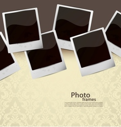 Background with photoframes vector image vector image