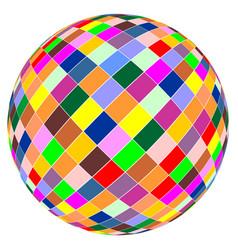 ball color design vector image