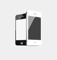 Black and white phone vector