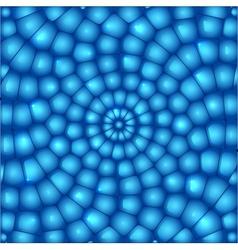 Blue circled abstract bricks backgrouns vector