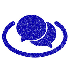 chat icon grunge watermark vector image