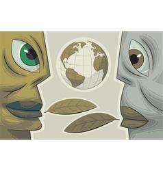environmental dialogue vector image vector image