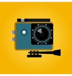 Extreme action video digital camera vector