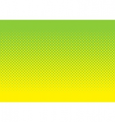 green and yellow halftone pattern vector image vector image