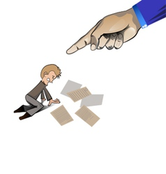 hand pointing at the man1 vector image vector image