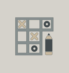 In flat style tic tac toe vector