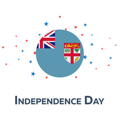 Independence day of fiji patriotic banner vector