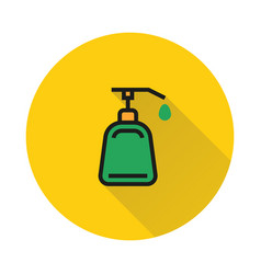 liquid soap icon on round background vector image