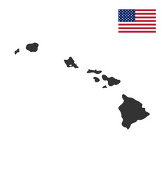 Map of the us state of hawaii vector