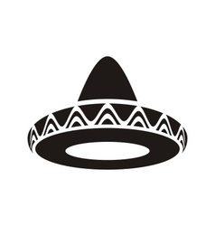 Mexican hat vector image