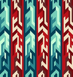 Red totem seamless pattern vector