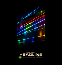 retro neon glowing colorful laser beams vector image vector image