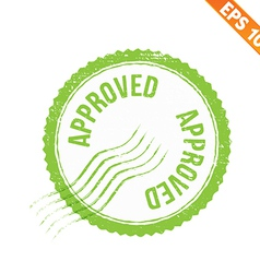 Rubber stamp approved - - eps10 vector
