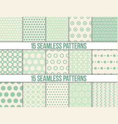 seamless patterns polka dots set vector image