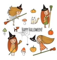 Set of halloween vector