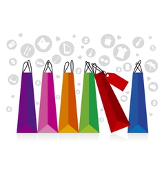Shopping Display vector image