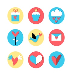 stok vektor icons valentines vector image vector image