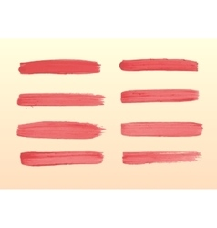 The set of strokes of red gouache vector
