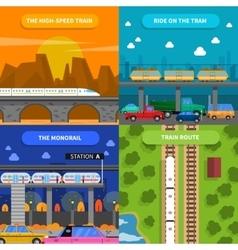 Train concept icons set vector