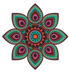 Ugadi mandala flower background vector image