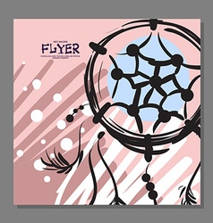 Unique flyer with Dreamcatcher on the background vector image vector image