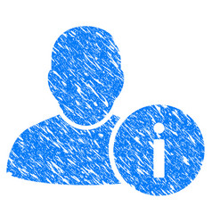 user info grunge icon vector image