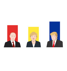 world leaders theme vector image vector image