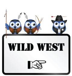 Wild west sign vector