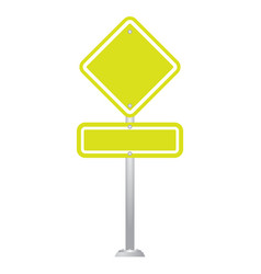 Blank road sign board isolated on white background vector