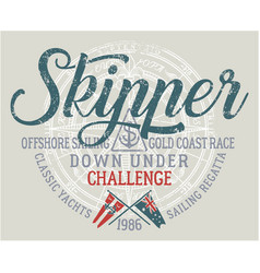 Offshore sailing challenge vector