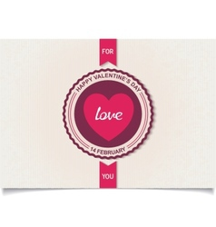 Heraldry labels design for valentines day vector