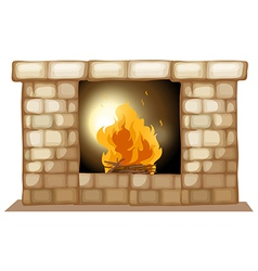 A fireplace vector