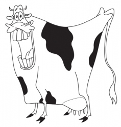 outlined cow vector image